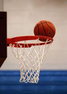 Ludwigsburg - Bild von Basketball am Korb