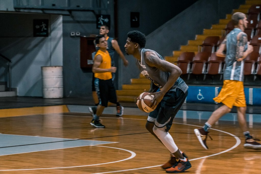 Basketballspieler im Training